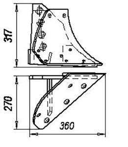 Башмак (штампосварной) ПЛЕ.01.100 (на 3, 4, 5, 8 -корпусные плуги), м=14 кг