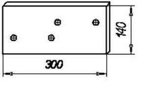 Боковина (сормайт) ПЛЖ.51.200 (на 3, 4, 5, 8 корпусные плуги) м=3,8
