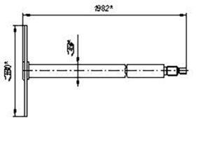 Вал батареи катков СКС.01.23.010 (Сеялки СЗС-2 СЗС-6 СЗС-2,1) м=12кг