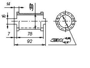 Втулка промежуточная СЗЮ.00.601 (Сеялка СЗП-3,6) м=1кг