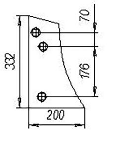 Грудь отвала ПЛЕ.21.401 (на 3, 4, 5, 8 корп. плуги с шир. захвата корпуса 35см), м=2 кг