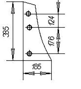 Грудь отвала ПНЛ.01.401 (на 8 -корпусные плуги с шир. захвата корпуса 40см), м=2,5 кг