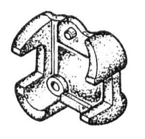 Державка предплужника в сборе 215.00.000-01 (на 3, 4, 5, 8 -корпусные плуги), м=4,4 кг