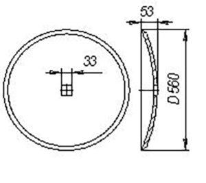 Диск АСМ.00114 (Ø560) (гладкий) т.о (Борона дисковая) м=12кг