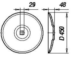 Диск ЛДГ Н.154.00.407 (Ø 450) т.о (Лущильники ЛДГ-5А; ЛДГ-10А; ЛДГ-15А; ЛДГ-20 Бороны БДН-3; БДС-3,5; БД-10)м=8.3кг