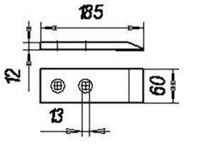 Долото КША.25-050 (наплав.) (Культиваторы плоскорезы КПШ-5; КПШ-9; КПШ-11; ОПТ-3,5; СКН-3) м=1кг