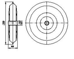 Каток прикатывающий СЗШ 00.370 (Сеялки СЗС-2 СЗС-6 СЗС-2,1) м=9.5кг
