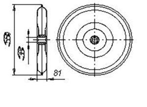 Каток прикатывающий СЗЮ 00.160 (СЗП-3,6) м=8.5кг