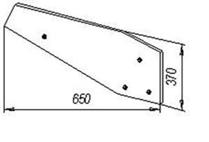 Крыло отвала ПЛЕ.21.411(на 3,4,5,8 - корпусные плуги с шириной захвата 35 см ), м=9,2 кг