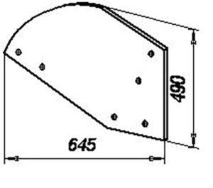 Крыло отвала ПНЛ.01.411 (на 8-корп. плуги с шириной захвата корпуса 40 см), м=13,4 кг