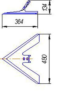 Лапа АПК.00210 (480 мм) кованная (комплексы АПК), м=5кг