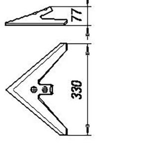 Лапа КПС 00122-01 (330 мм) кованная (КПС-4;КПС-6;КШУ-12;КШУ-18), м=1,3 кг