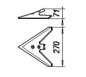 Лапа КПС 00130 (270 мм) кованная (КПС-4;КПС-6;КШУ-12;КШУ-18), м=1,2 кг