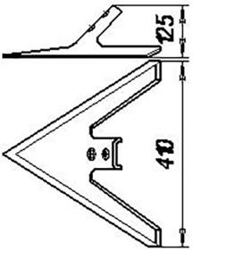 Лапа КПЭ.00120(410 мм) кованная (культиватор КТС-10, КПЭ-3,8), м=4,3 кг