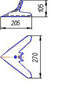 Лапа Омичка (270мм) кованная (сеялка Омичка), м=1,5 кг