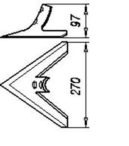 Лапа СКС 01.08.080 (270 мм) кованная (сеялки СЗС-2; 2,1;6;12), м=1,5 кг