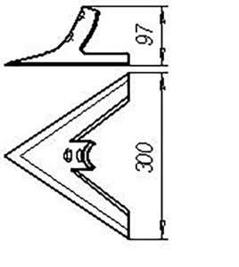 Лапа СКС 01.08.080 (300 мм) кованная (сеялки СЗС-2; 6;12), м=1,7 кг