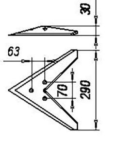 Лапа С-4 (290 мм) кованная (сеялка СЗС-2,1 до 1980 г), м=1,3 кг