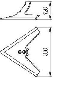 Лапа С-5 (330 мм) ОПС 05.020 кованная (Орудия для предпосевной обработки почвы ОП-8; ОП-12) м=2.2кг