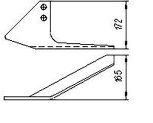 Лапа-бритва КРН 00220  кованная (рыхлители КРН), м=1,5 кг