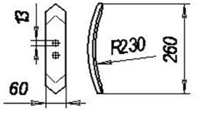 Лапа 00743 (рыхл.обор) 260 мм (Культиваторы КПС-4; КРН-3,5;КРН-2,5; КЧП-5,4), м=1кг
