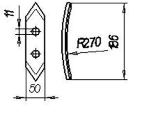 Лапа 00744 (рыхл.обор) 186 мм (Культиваторы КП-4; КПН-2; КОН 2,3; КОК-0,8 Борона БП-12), м=0,9 кг