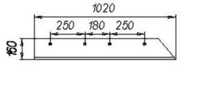 Лемех КГЮ (1-но сторонний) L=1020 (лев.,прав.) (Культиватор КПГ-2-150) м=12кг