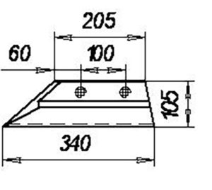 Лемех предплужника  П.703.Б (на 3, 4, 5, 8 -корпусные плуги), м=1,7 кг