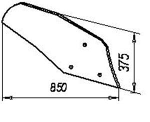Отвал П.401 (на 3, 4, 5, 8 -корпусные плуги), м=11,2 кг