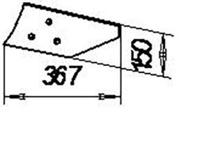 Отвал предплужника П.402.В (на 3, 4, 5, 8 -корпусные плуги), м=2,5 кг