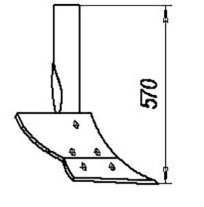 Предплужник  без державки 02.010 (на 3, 4, 5, 8 -корпусные плуги), м=11,5 кг