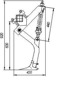 Стойка в сборе ОПС 05.000 (Орудия для предпосевной обработки почвы ОП-8; ОП-12) м=15кг