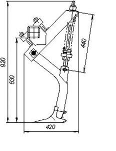 Стойка в сборе СКС 01.08.000 (Стерневые сеялки СЗС-2; СЗС-6; Сеялка-культиватор зернотуковая СЗС-2) м=15кг