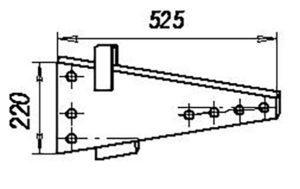 Стойка (штампосварная) ПЛЕ.01.200 (на 3, 4, 5, 8 -корпусные плуги), м=14,3 кг