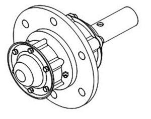Ступица колеса ПНЛ.РЗЗ.16.100 (на 3, 4, 5, 8 -корпусные плуги), м=23,6 кг